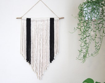 Ivory and Charcoal Wall Hanging