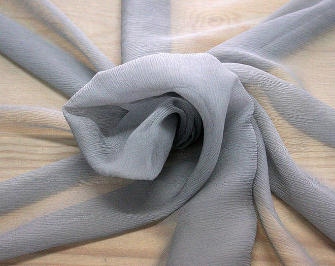 326186-Chiffon Natural silk 100%, width 127/130 cm, made in Italy, dry cleaning, weight 29 gr