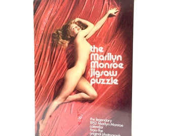 Vintage 1973 Marilyn Monroe Jigsaw puzzle new in package - 1952 nude
