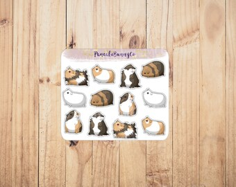 Guinea pig planner stickers