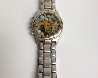 Repurposed Upcycled/Recycled Beach Watch Bracelet W5