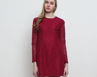 Vintage Burgundy Mini Dress/ Size 3