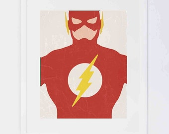 Flash Superhero,  Digital Printable
