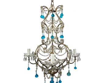 Antique Chandelier Crystal Chandelier Italian Chandelier Vintage Chandelier Murano Chandelier Italian lamp Glass chandelier Antique light