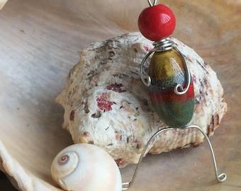 Multi-colored Bead Guy Charm