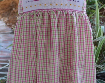 Smocked Snail Sundress Size 1 to 4