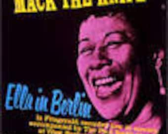 Ella Fitzgerald Mack the Knife  Ella in Berlin Live in Concert - Vintage Record lp in EX+  Condition Vinyl Record