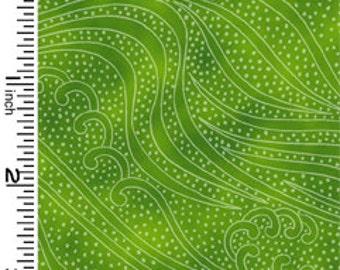 Color Movement Green Peridot Tonal Kona Bay Fabric 1 yard