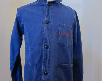 french moleskin workwear jacket 70s cogema
