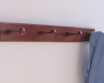 Coat Rack - Wooden - 4 Pegs - Wall Mount
