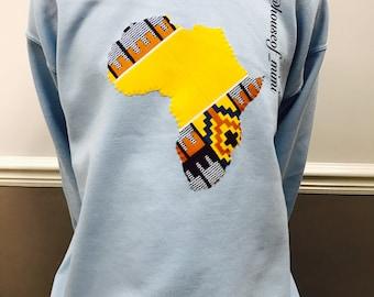 Mens kente 'Motherland' Sweatshirt