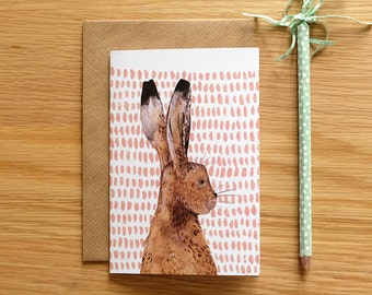 Illustrated Hare Card