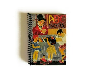 ABC Book Notebook A6 Spiral Bound - Diary Journal, 4x6 Inches, Back to School, Blank Writing Sketchbook, Small Notebook, Cute Gifts Under 20