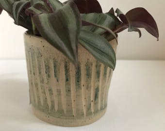 Pottery planter, plant lover gift