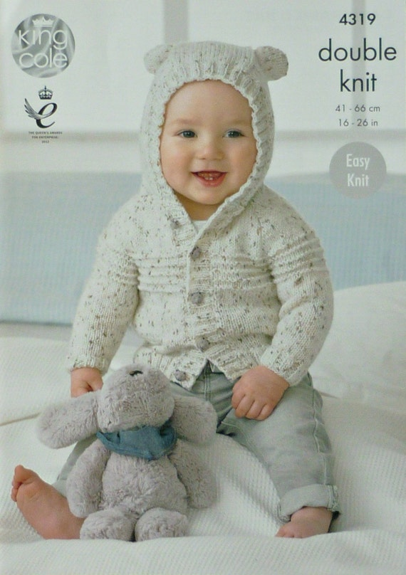 Baby Knitting Pattern K4319 Baby\'s Easy Knit Long Sleeve