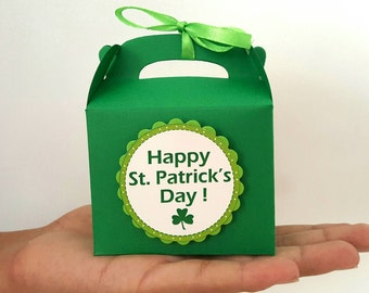 10 St. Patrick's day favor boxes / st. patricks day treat boxes / st. patricks day gift boxes / st. patricks day party favors / gable boxes