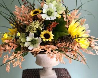 The Diane Sunflower Centerpiece For Tablefarmhouse Decorrustic Decorsummer