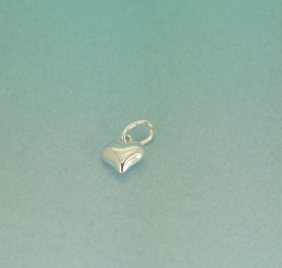 925 tiny sterling silver puffed heart pendant 6mm sterling silver 925 tiny sterling silver puffed heart pendant 6mm sterling silver heart charmpendant quantities of 15 or 10 available from tinyweetreasures on etsy aloadofball Images
