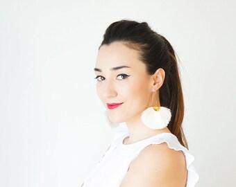 Statement Jewelry Boho Tassel Earrings Boho Earrings Boho Jewelry Boho Fan Earrings Yellow Tassel Earrings Bohemian Earrings/CAMILLE