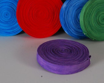 "Cotton Twill Tape, 1"", Hand-dyed, Multiple Colors"