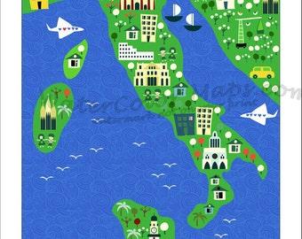 Kids map Etsy