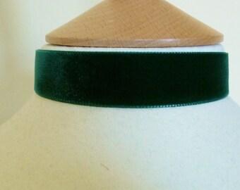 Plain green velvet Choker 22mm velvet ribbon medieval necklace red velvet ribbon choker wedding love