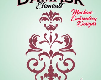Damask Elements - Machine Embroidery Designs - Damask Embroidery Designs