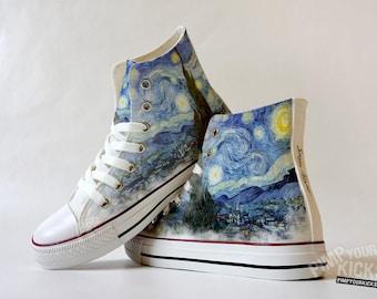 Starry Night, Painting, Custom Shoe Decoration