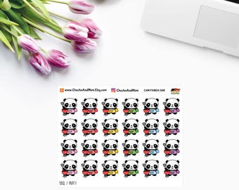 Amanda The Panda ~ BBQ ~ Planner Stickers CAM PANDA 068