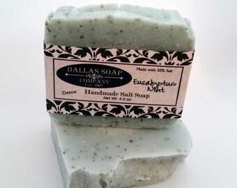 Eucalyptus Mint Soap Salt Bar