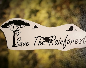 Save the Rainforest Vinyl Decal