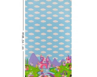 Princess Charming 100% Cotton Quilting Fabric Panel Michael Miller
