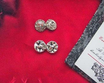 Item SL-0012 - Silver Clear Swarovski Crystal 7/16 inch