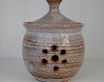 Vintage Studio Pottery Spice or Garlic Keeper