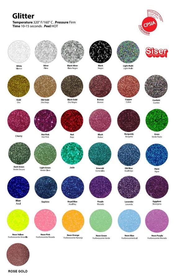 Siser Glitter Htv Heat Transfer Vinyl 12 X 7 5