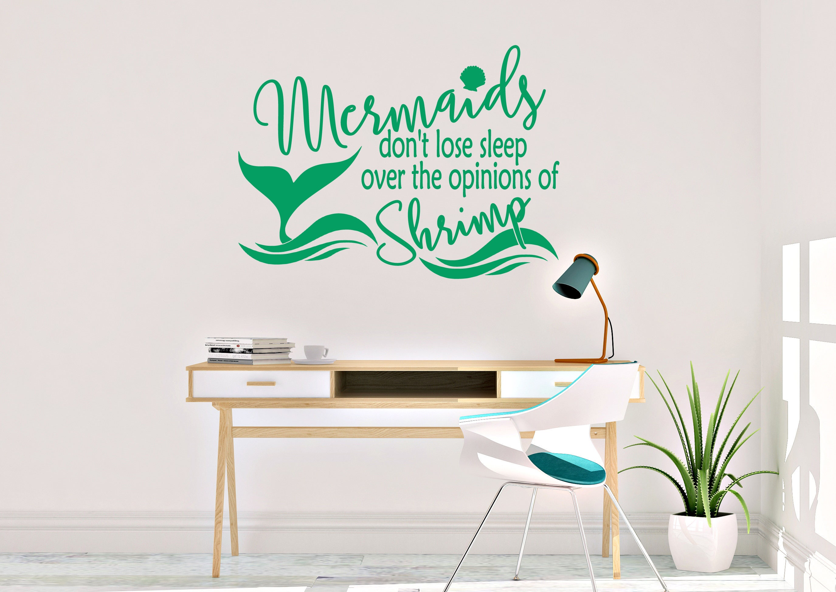 Mermaids Donu0027t Lose Sleep Wall Decal   Mermaid Wall Decal   Vinyl Wall Decal    Mermaid   Mermaid Decals   Mermaid Decor   Mermaid Wall Art