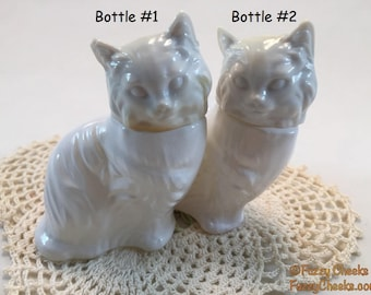 CATS Avon Perfume Bottles CHOOSE ONE White Persian Kittens Figurine Vintage seventies retro Gifts for Cat Lovers Enthusiasts pets animals