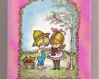 Niños Vintage 1968 reserva tantas clases de amor edición de tarjetas de Hallmark por w Dean Walley sobrecubierta Navidad regalo cobrable