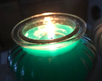 Lemon and lime scented candles