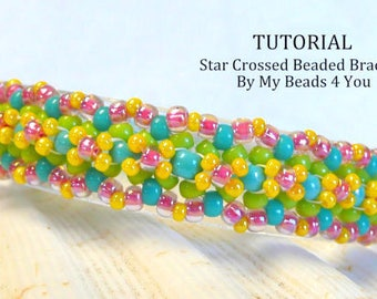 Bracelet Beading Patterns, Beading Tutorial, How to Bead Jewelry, PDF Tutorial, Beading Instructions, Seed Bead Tutorial, My Beads 4 You