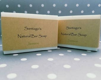Jasmine all natural bar soap // for him // for her  // dye free soap // Child safe soap //health and beauty // Coconut free