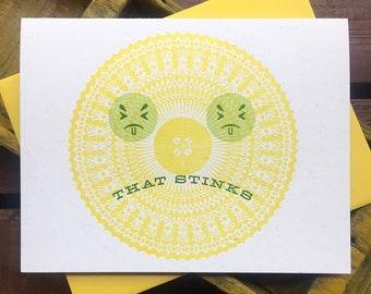 That Stinks letterpress card
