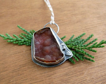"Fossilized Agatized Coral Pendant- ""Warmth"""