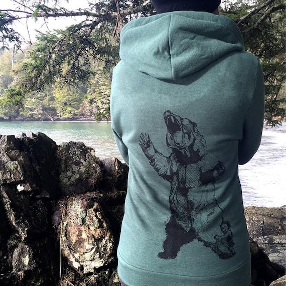 Bear-Hugger + Spruce Tree Zip Hoodie zkcUicfs