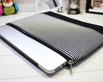 Laptop sleeve, zippered Macbook case, 13 inch laptop case, Macbook Pro case, Macbook Air case, Macbook Pro sleeve, New Macbook Pro case