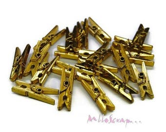 Set of 20 small darts metallic Golden embellishment scrapbooking *.