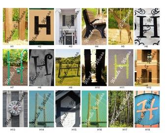Letter H Word Art