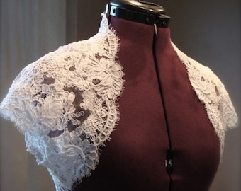 The Lacey Bridal Shrug- White or Ivory