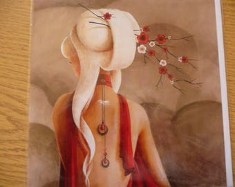 "Art card ""Flowering branch"""