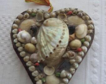Antique Victorian Sailors Valentine Seashell Art